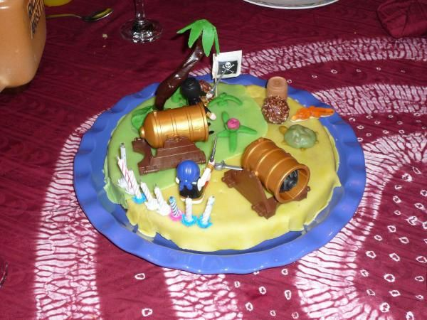 Gateau ile au trésor pirate